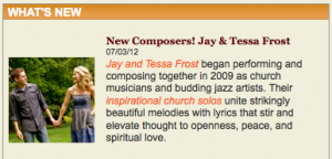 New Composers! Jay and Tessa Frost